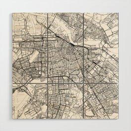 Amsterdam White Map Wood Wall Art