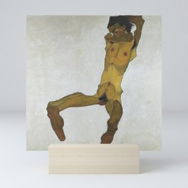 Egon Schiele - Seated Male Nude (Self-Portrait) Mini Art Print