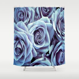 Periwinkle Roses / Flowers Shower Curtain