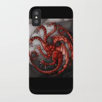 khaleesi iPhone & iPod Cases featuring House Targaryen Stained Glass by itsamoose