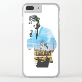 Mad men smokes Clear iPhone Case