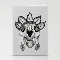 animal skull Stationery Cards featuring Animal skull by SilviaGancheva