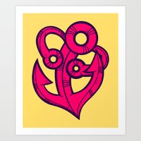 anchor Art Prints featuring Anchor by Artistic Dyslexia