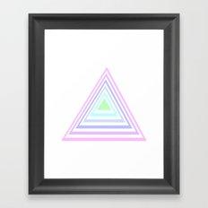 pastel rainbow triangles Framed Art Print