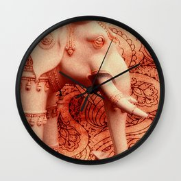 Indian Decorated Elephant Wall Clock