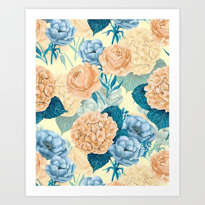 Spring garden watercolor      Art Print