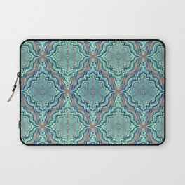 Marker Moroccan in Aqua, Cobalt Blue, Taupe & Teal Laptop Sleeve