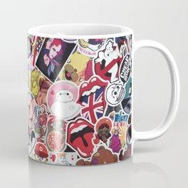 Small stickers collage Coffee Mug