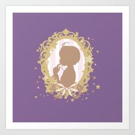 cardcaptor sakura star dream silhouette cameo Art Print