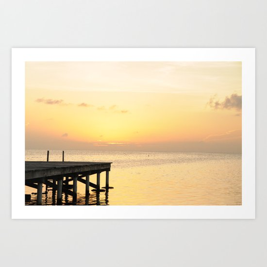 Sunset's in Belize Art Print