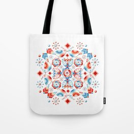 Folkloric Lovebirds Tote Bag