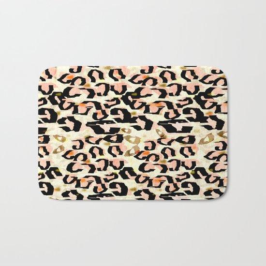 Abstract Leopard Print Bath Mat