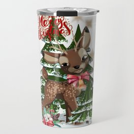 Fawn in the forest Travel Mug