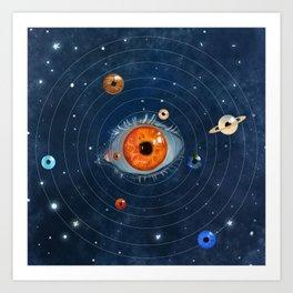 Galactic Eyes Art Print