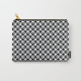 black and white simple modernist pattern Carry-All Pouch