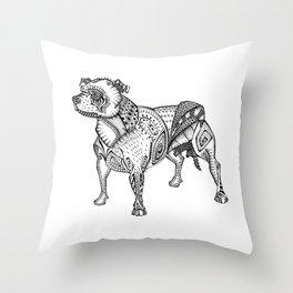 Staffie #2 Throw Pillow