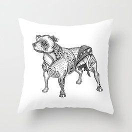 Staffie #2 Throw Pillow
