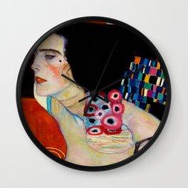 """Gustav Klimt """"Judith II"""" (detail) Wall Clock"""