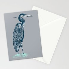 Bewitching blue heron Stationery Cards