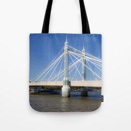 Albert Bridge on the Thames in London (3) Tote Bag