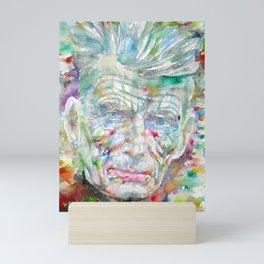 SAMUEL BECKETT watercolor portrait.9 Mini Art Print