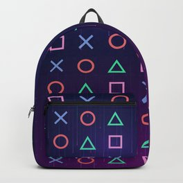 Cyberpunk Vaporwave Playstation Icons Backpack