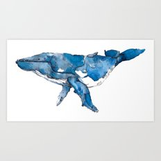 A whale of a time. Art Print