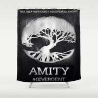 divergent Shower Curtains featuring Amity  by Diego Guzman