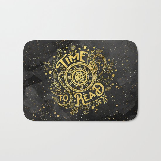 Time to Read - Gold Bath Mat