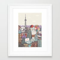 toronto Framed Art Prints featuring Toronto by Ashley Ross
