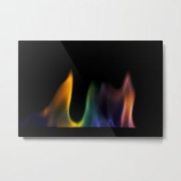 Real Colored Flame Photograph Metal Print