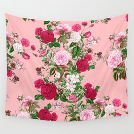 Spring In Bloom Pink Wall Tapestry