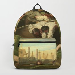 Classical Masterpiece 'Watson and the Shark' by John Singleton Copley Backpack