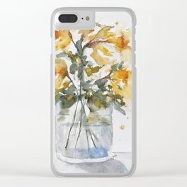 Essence of Daffodil in Watercolor Clear iPhone Case