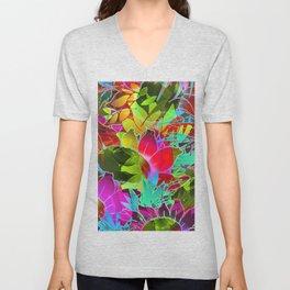 Floral Abstract Artwork G125 Unisex V-Neck