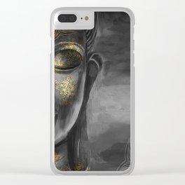Buddha Gray Clear iPhone Case