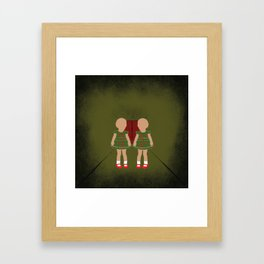 Twin Kids Framed Art Print
