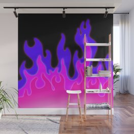 Bright Pink and Purple Flames! Wall Mural