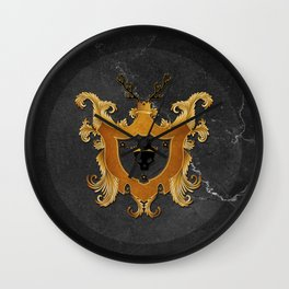 House of Gold and Marble Wall Clock