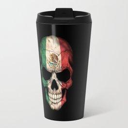 Dark Skull with Flag of Mexico Travel Mug