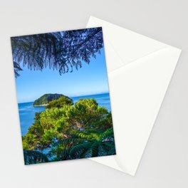 Track view in Abel Tasman National Park, New Zealand Stationery Cards