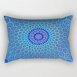 Blue Arabic Mosaic Rectangular Pillow