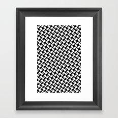Houndstooth (Pepita) Framed Art Print