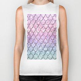 Mermaid Scales on Unicorn Girls Glitter #1 #shiny #pastel #decor #art #society6 Biker Tank