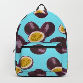 Live your passion on blue Backpack