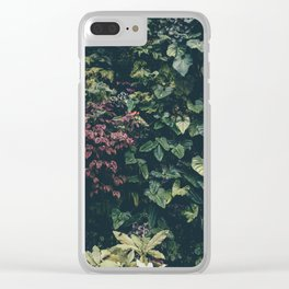 Summer Paradise Garden Clear iPhone Case
