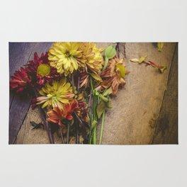 Rustic Flowers (Color) Rug