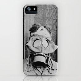 American, British, French, & German Gas Masks iPhone Case