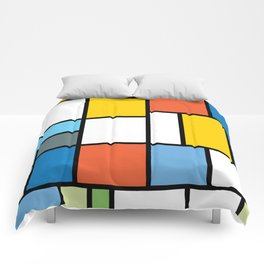 The Colors of / Mondrian Series - Simpsons Comforters