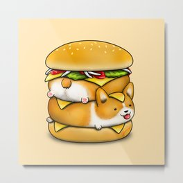 Double Corgi Pounder Metal Print